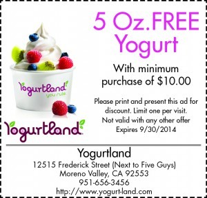 Coupons for Stores Related to yogurt-land.com